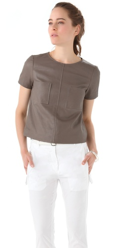Jenni Kayne Leather Pocket Tee