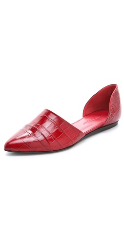 Jenni Kayne Embossed Croc d'Orsay Flats