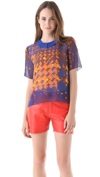 Jenni Kayne Print Collared Blouse