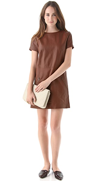 Jenni Kayne Leather Zip Dress