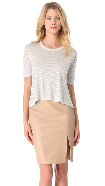 Jenni Kayne Crop Crew Neck Tee