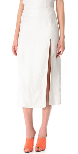 Shop Jenni Kayne Slit Skirt and Jenni Kayne online - Apparel,Womens,Bottoms,Skirts, online Store
