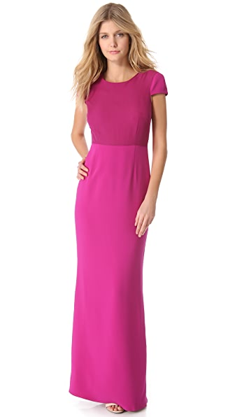 Jenni Kayne Short Sleeve Column Gown