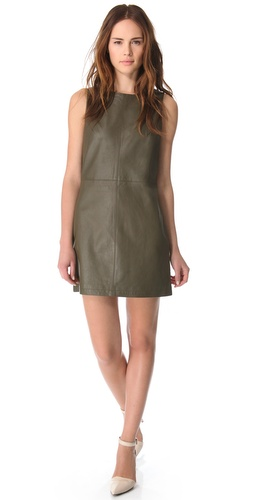 Jenni Kayne Zip Back Leather Dress