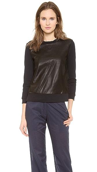 Jenni Kayne Leather Sweatshirt