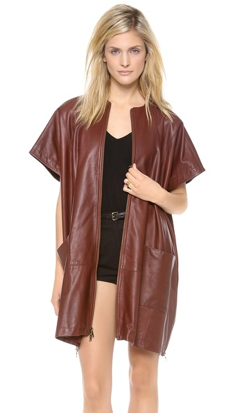 Jenni Kayne Leather Poncho