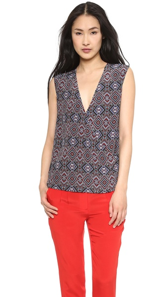 Jenni Kayne Sleeveless Crossover Top