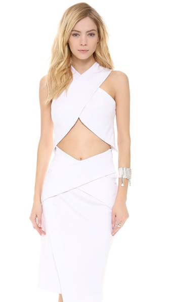 Josh Goot Cropped Crossover Top