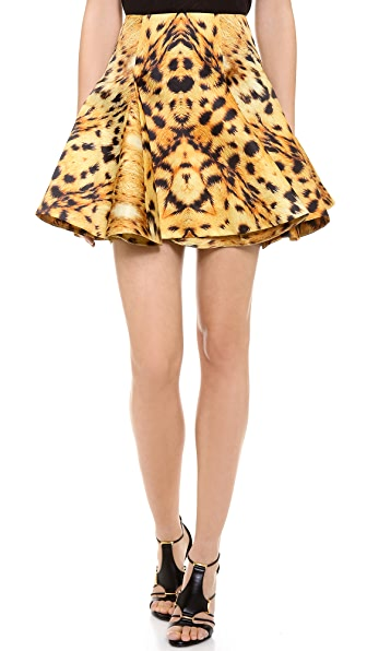 Josh Goot Leopard Circle Skirt