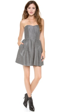 Jill Jill Stuart Strapless Striped Dress
