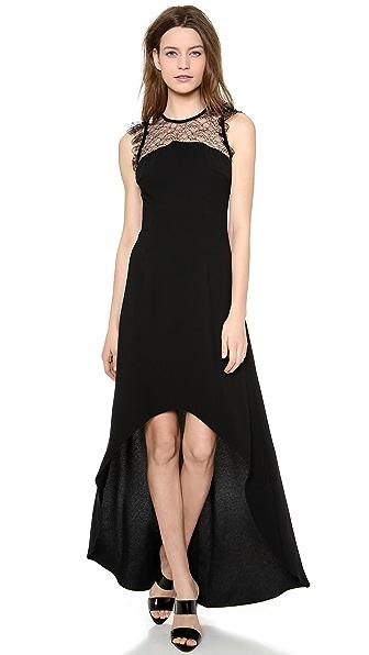 Jill Jill Stuart High Low Chantilly Lace Gown
