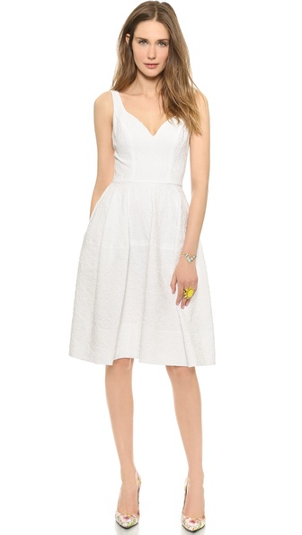 Jill Jill Stuart Sweetheart Neck Dress - White