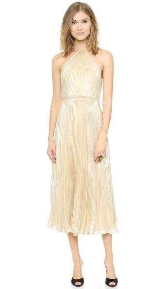 Shop Jill Jill Stuart online and buy Jill Jill Stuart Gold Halter Gown Gold online