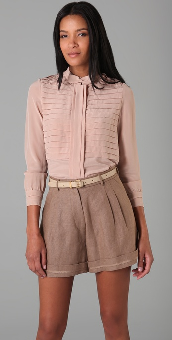 Jill Stuart Doreen Top with Bowtie
