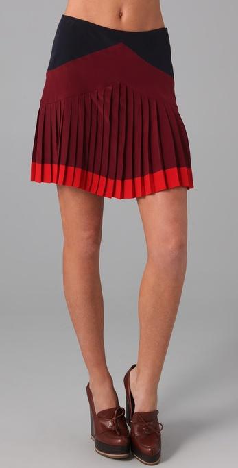 Jill Stuart Tanya Pleated Miniskirt