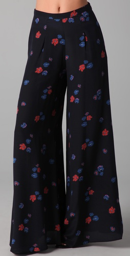 Jill Stuart Torie Violet Print Pants