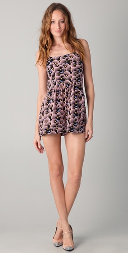 Jill Stuart Sonia Luna Print Romper