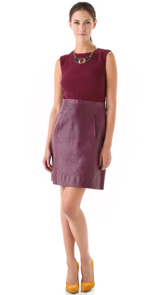 Jill Stuart Karmen Dress with Leather Skirt