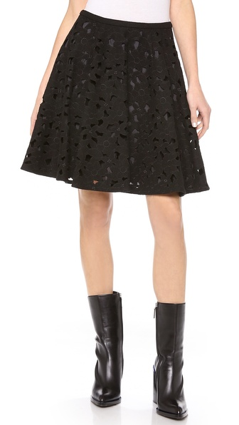 Jill Stuart Embroidered A Line Skirt