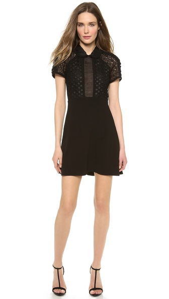 Jill Stuart Sumin Dot Lace Collar Dress