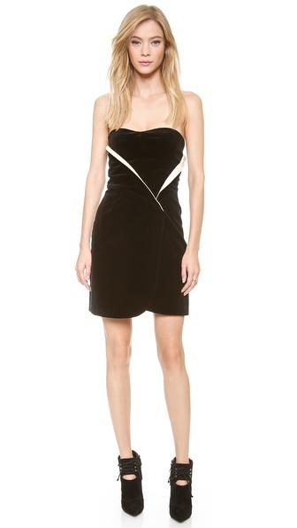 Jill Stuart Emily Velvet Bustier Dress