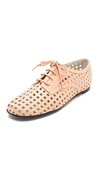 Jil Sander Navy Perforated Oxfords