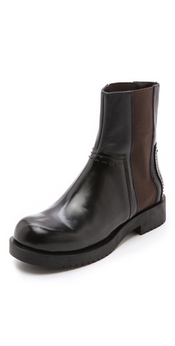 Jil Sander Navy Platform Booties at Shopbop / East Dane
