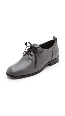 Jil Sander Navy Leather Oxfords