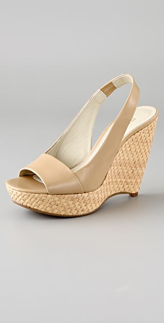 Jil Sander Platform Wedge Sandals
