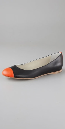 Jil Sander Cap Toe Flats