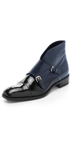 Jil Sander Monk Strap Flat Booties