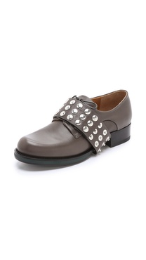 Jil Sander Studded Monk Strap Oxfords