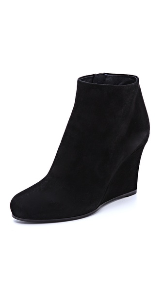 Jil Sander Suede Wedge Booties