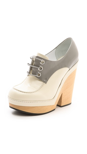 Jil Sander Alexia Platform Oxfords - Grey/Ivory at Shopbop / East Dane