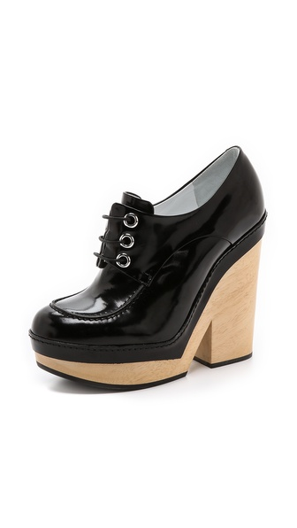 Jil Sander Alexia Platform Oxfords - Black at Shopbop / East Dane