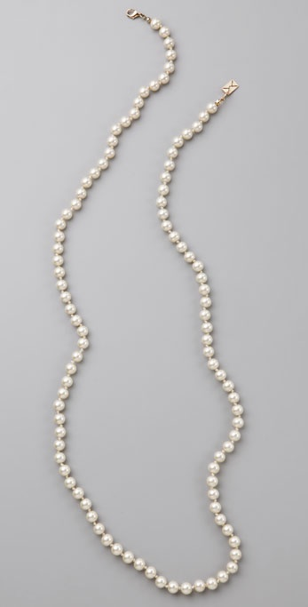 Juliet & Company Classic Long Pearl Necklace