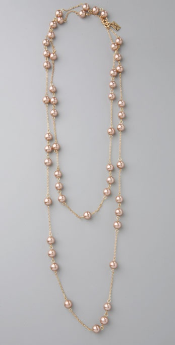 Juliet & Company Champagne Pearl Wrap Necklace