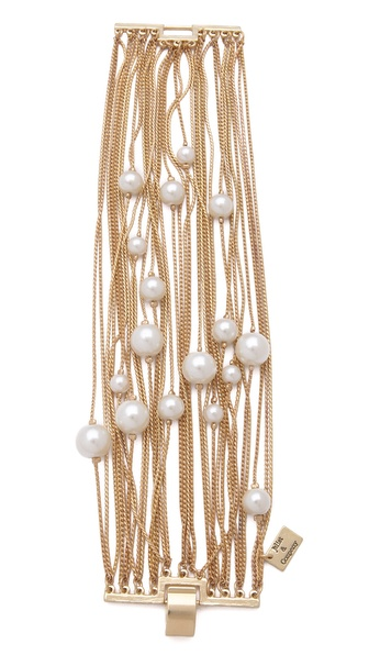 Juliet & Company Runway Multi Strand Pearl Bracelet