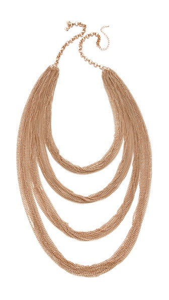 Juliet & Company Golden Multi Tier Necklace