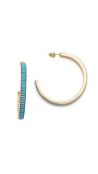 Juliet & Company Baguette Hoop Earrings