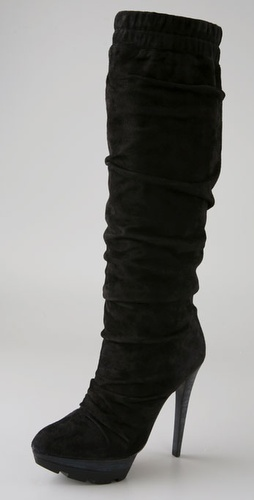 Jean-Michel Cazabat Genna Ruched Suede Boots