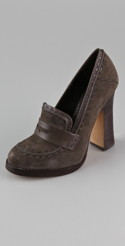 Jean-Michel Cazabat Lidia Suede High Heel Loafers