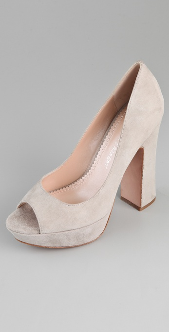 Jean-Michel Cazabat Shala Open Toe Pumps