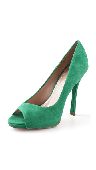 Jean-Michel Cazabat Olympia Suede Platform Pumps