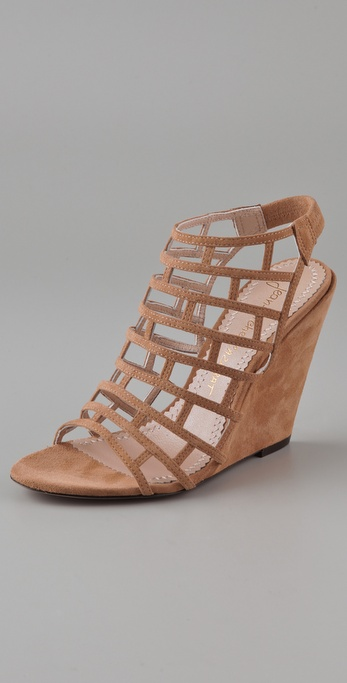 Jean-Michel Cazabat Pia Suede Wedge Sandals