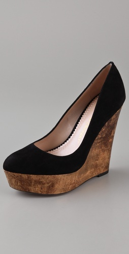 Jean-Michel Cazabat Tabia Cork Wedge Pumps