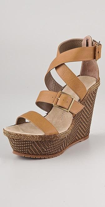 Jean-Michel Cazabat Hermina Platform Wedge Sandals