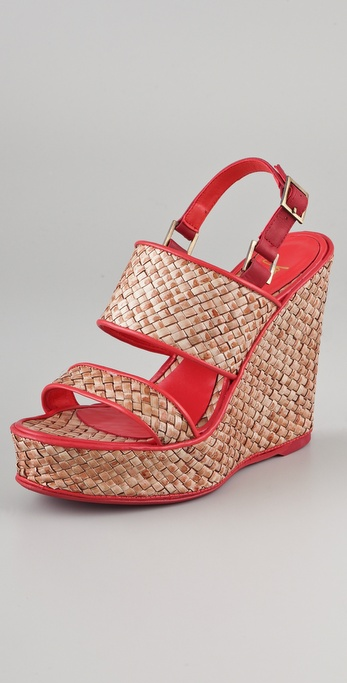 Jean-Michel Cazabat Padma Platform Wedge Sandals