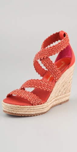 Jean-Michel Cazabat Marina Strappy Wedge Espadrilles