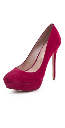 Jean-Michel Cazabat Lennox Suede Platform Pumps
